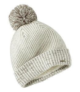 Women's Winter Lined Pom Hat