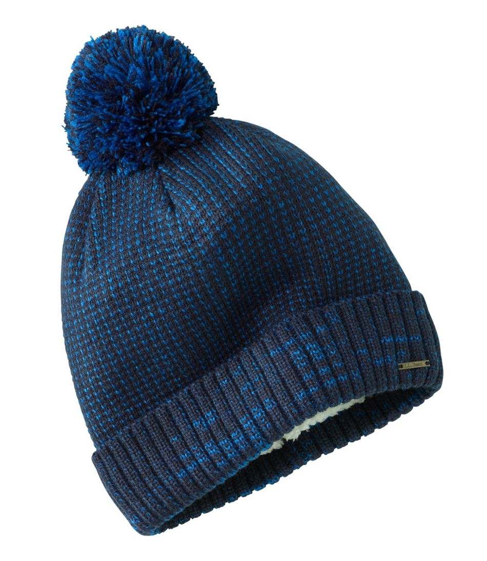Winter Lined Pom Hat
