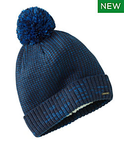 Women's Winter Lined Pom Hat