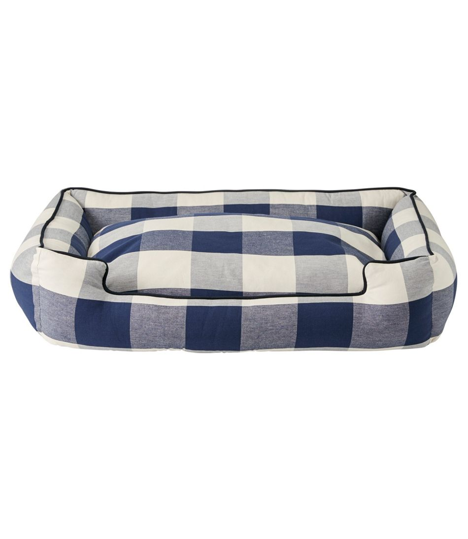 Lounge Dog Bed, Plaid
