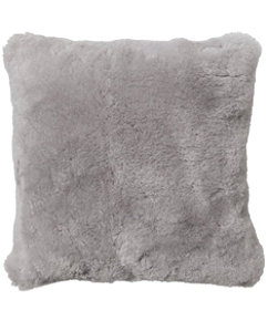 "Shearling Throw Pillow, 14"" x 14"""