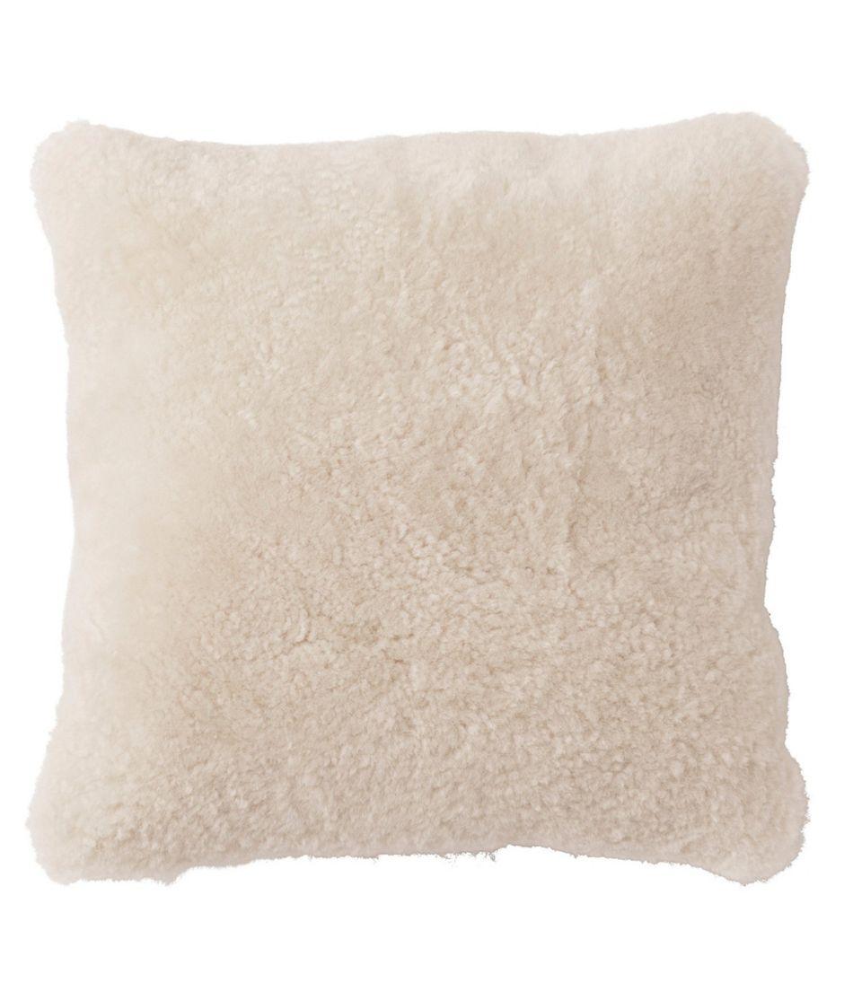 "Shearling Throw Pillow, 14"" x 14"""