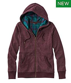 Women's Bean's Flannel-Lined Hoodie