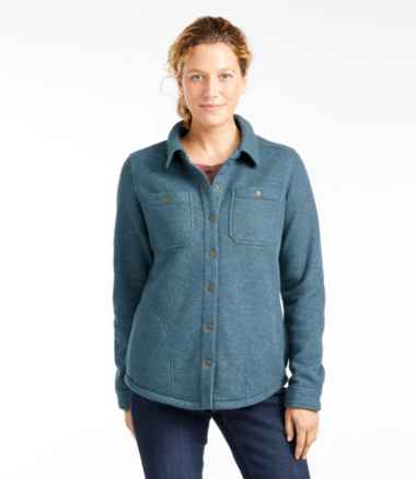 Women's Katahdin Iron Works Fleece-Backed Waffle Shirt-Jac