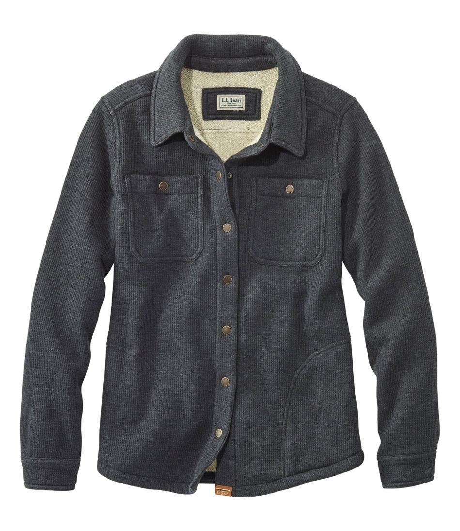 Katahdin Iron Works Fleece-Backed Waffle Shirt-Jac