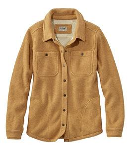Women's Katahdin Iron Works Fleece-Backed Waffle Shirt-Jac