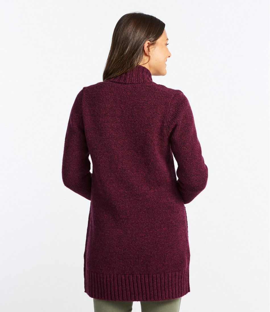 L.L.Bean Classic Ragg Wool Sweater, Open Cardigan