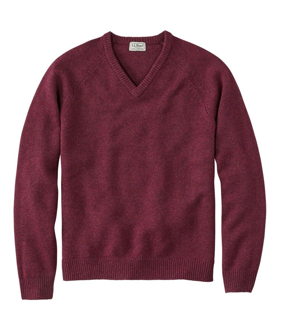 Washable Lambswool Sweater, V-Neck