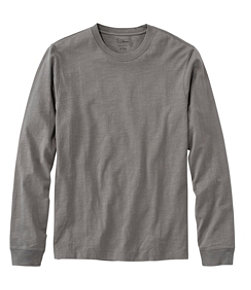 Men's Lakewashed Organic Cotton Tee, Long-Sleeve