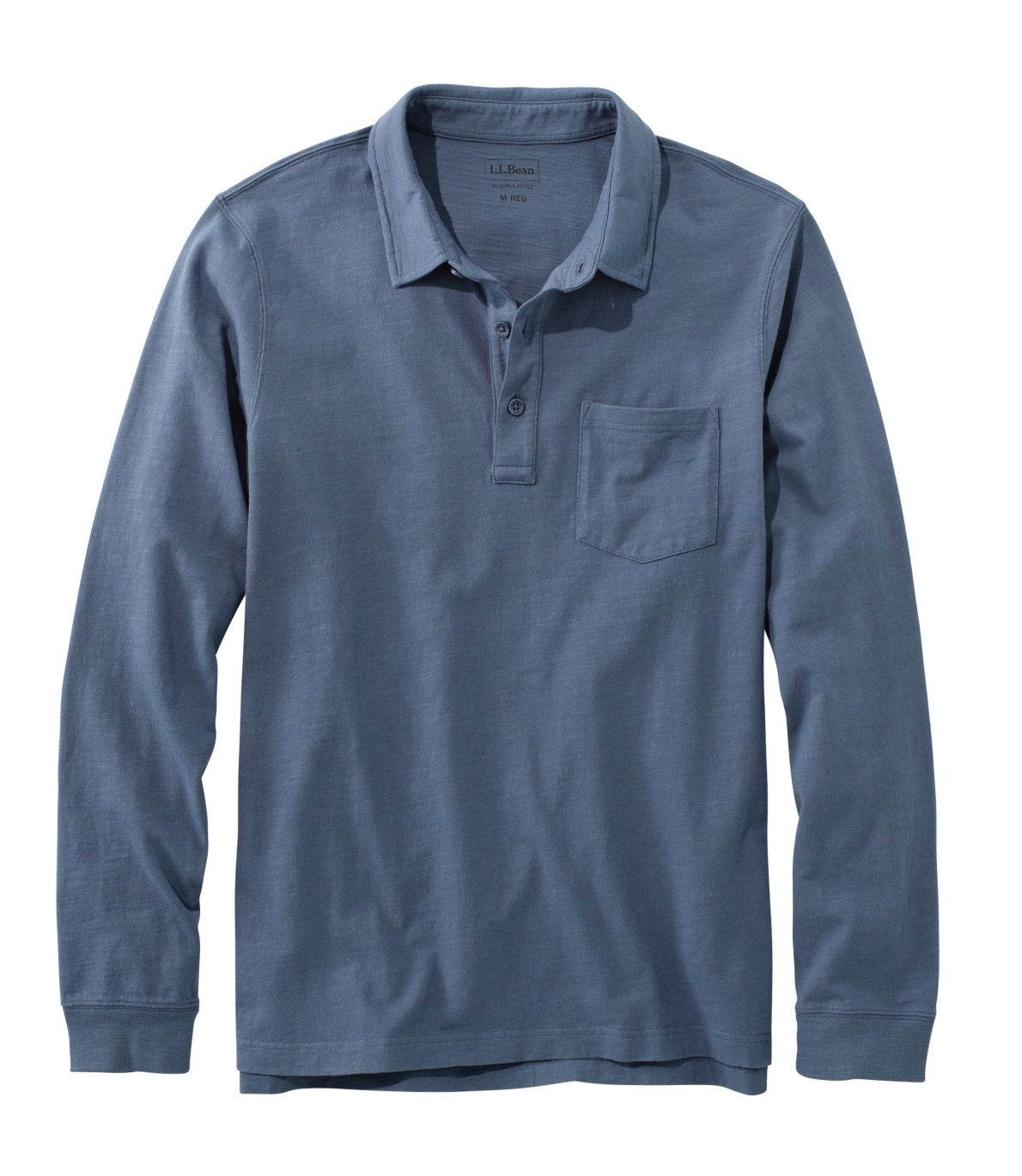 Men's Lakewashed® Organic Cotton Polo with Pocket, Long-Sleeve