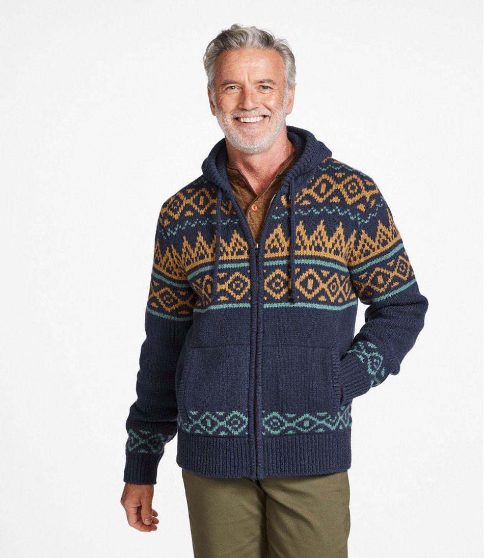 L.L.Bean Classic Ragg Wool Sweater, Zip Hoodie, Fair Isle