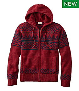 L.L.Bean Classic Ragg Wool Sweater, Zip Hoodie, Fair Isle