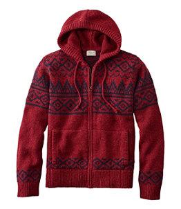 Men's L.L.Bean Classic Ragg Wool Sweater, Zip Hoodie, Fair Isle