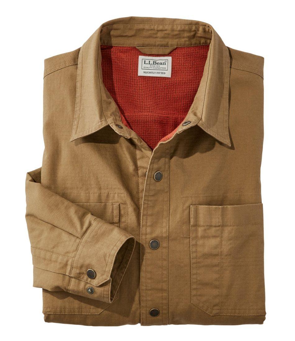 Katahdin Iron Works Ripstop Shirt, Lined