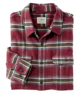 Men's Organic Flannel Shirt, Slightly Fitted