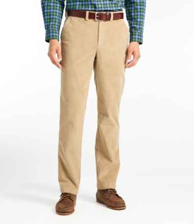 L.L.Bean Stretch Country Corduroy Pants, Standard Fit, Plain-Front