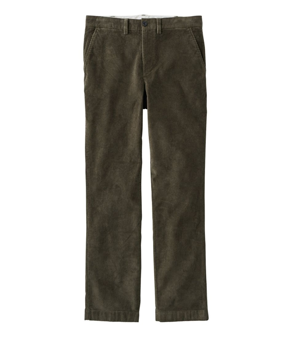 L.L.Bean Stretch Country Corduroy Pants, Standard Fit, Plain-Front