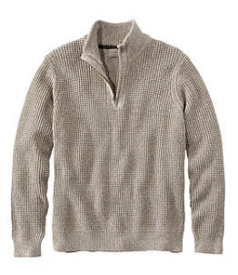Men's Organic Cotton Sweater, Quarter Zip