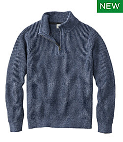 Organic Cotton Sweater, Quarter Zip