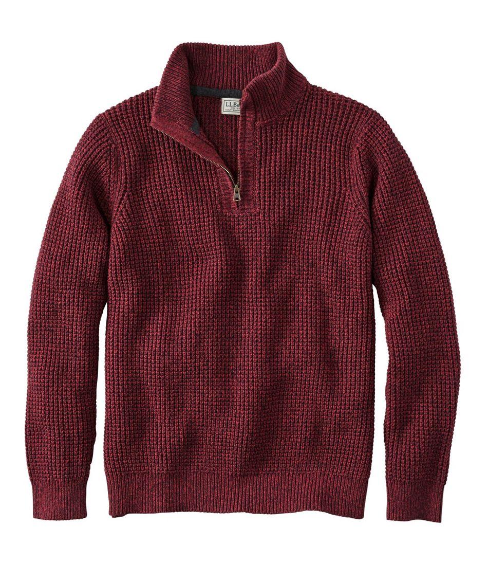 Organic Cotton Sweater, Quarter Zip