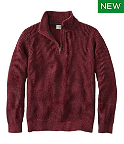 Men's Organic Cotton Sweater, Quarter Zip