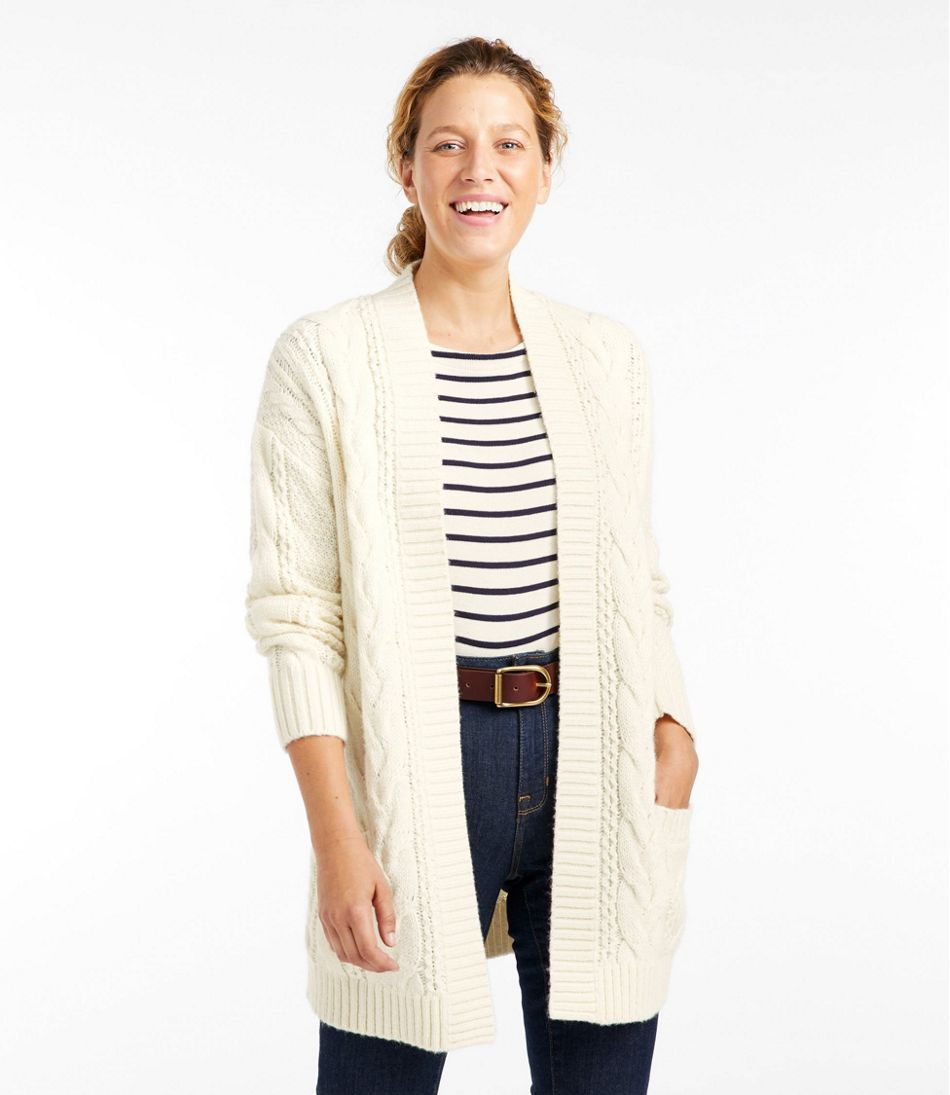 Heritage Sweater, Cable Cardigan