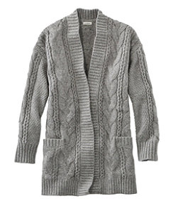 Women's Heritage Sweater, Cable Cardigan