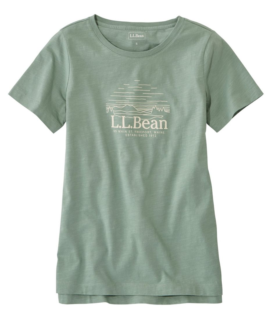 Lakewashed Organic Cotton Tee, Short-Sleeve Crewneck Graphic