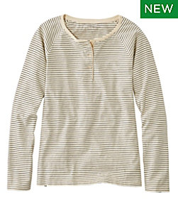 Lakewashed Organic Cotton Tee, Henley Stripe