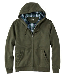 Men's Athletic Sweats, Hooded Full-Zip, Flannel-Lined