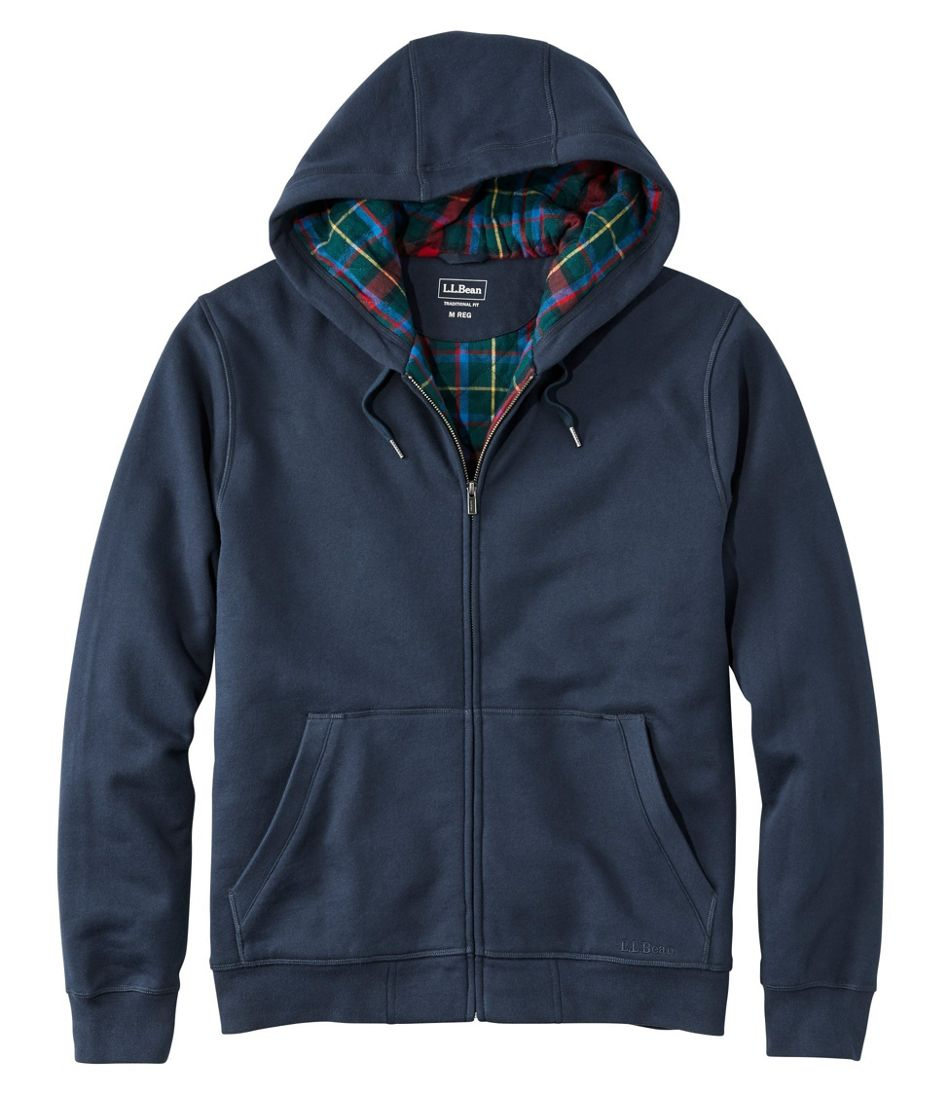 Athletic Sweats, Hooded Full-Zip, Flannel-Lined