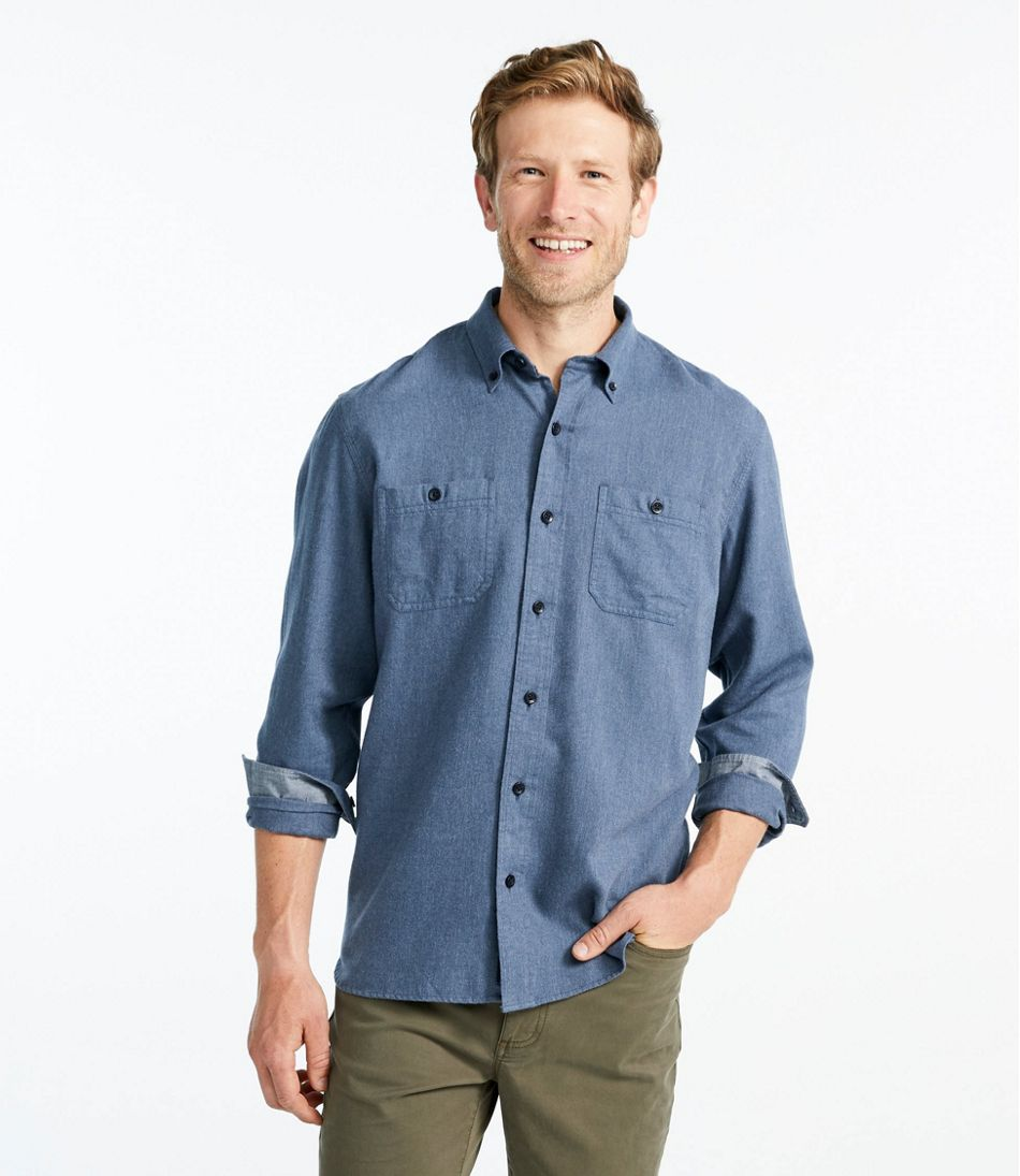 Rangeley Flannel Shirt, Long-Sleeve, Slightly Fitted