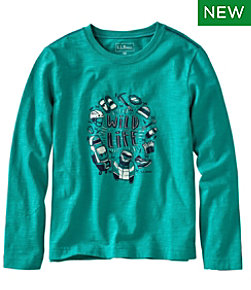 Kids' Graphic Tee, Long Sleeve, Glow-in-the-Dark
