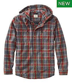 Scotch Plaid Flannel Hooded Shirt, Slightly Fitted