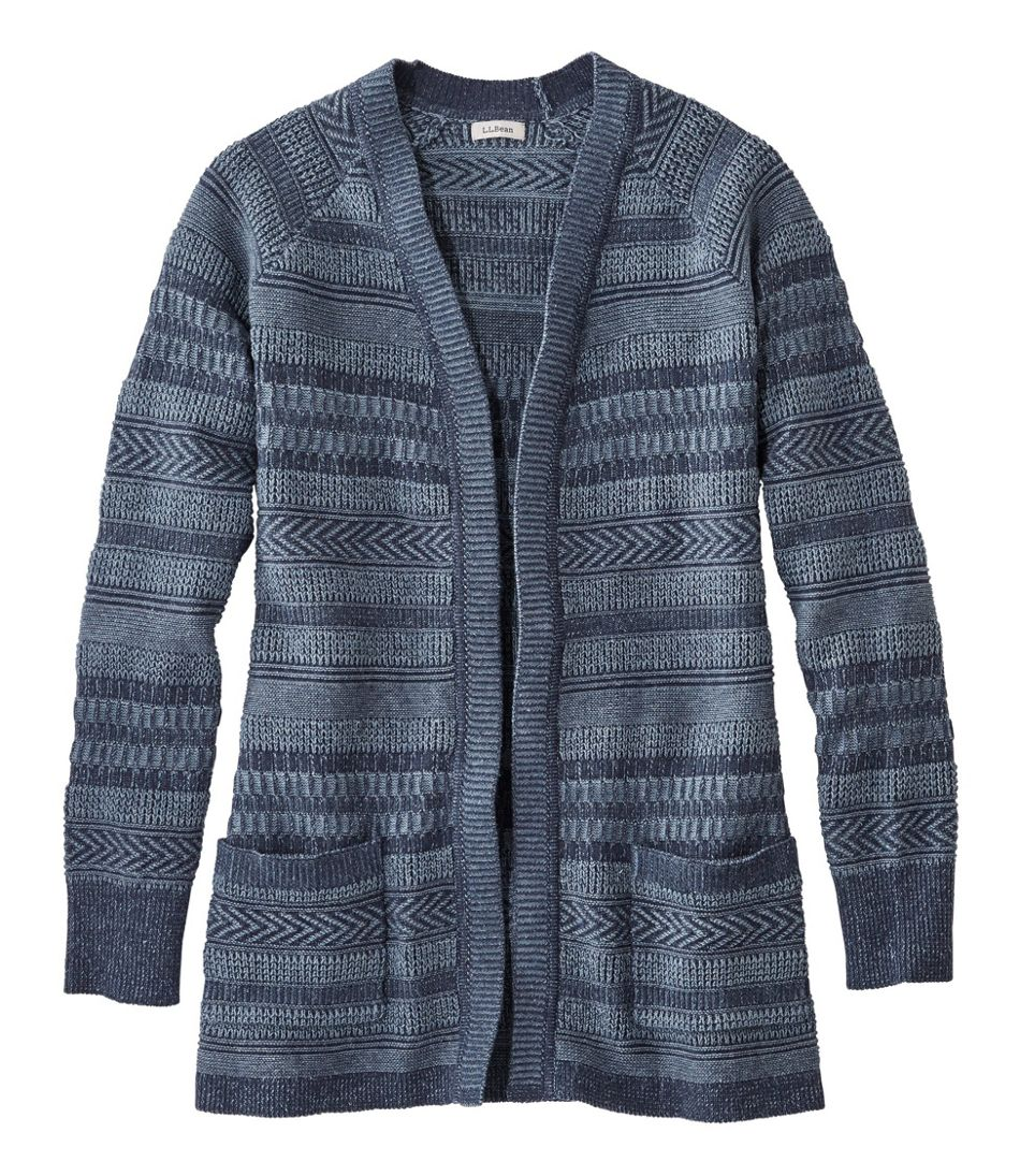 Organic Donegal Sweater, Open Cardigan Plaited
