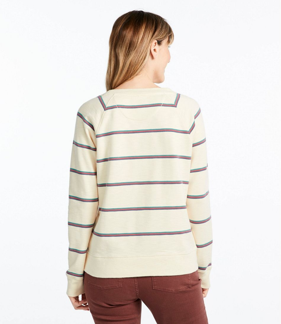 Organic Cotton Crewneck Sweatshirt, Stripe