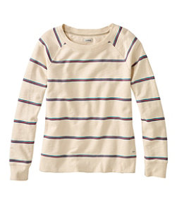 Women's Organic Cotton Crewneck Sweatshirt, Stripe