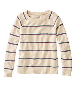 Women's Organic Cotton Crewneck Sweatshirt, Stripe