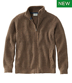 Organic Cotton Sweater, Full Zip