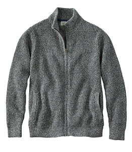 Men's Organic Cotton Sweater, Full Zip
