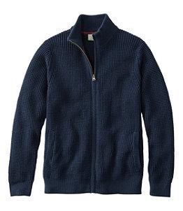 Men's Organic Cotton Sweater, Full Zip