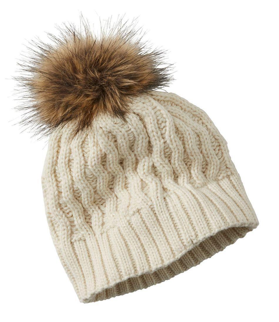 Kids' Cozy Cable Pom Hat