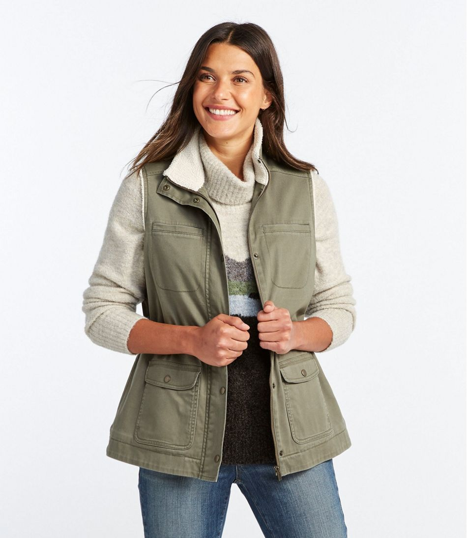 Women's Classic Utility Vest, Sherpa-Lined