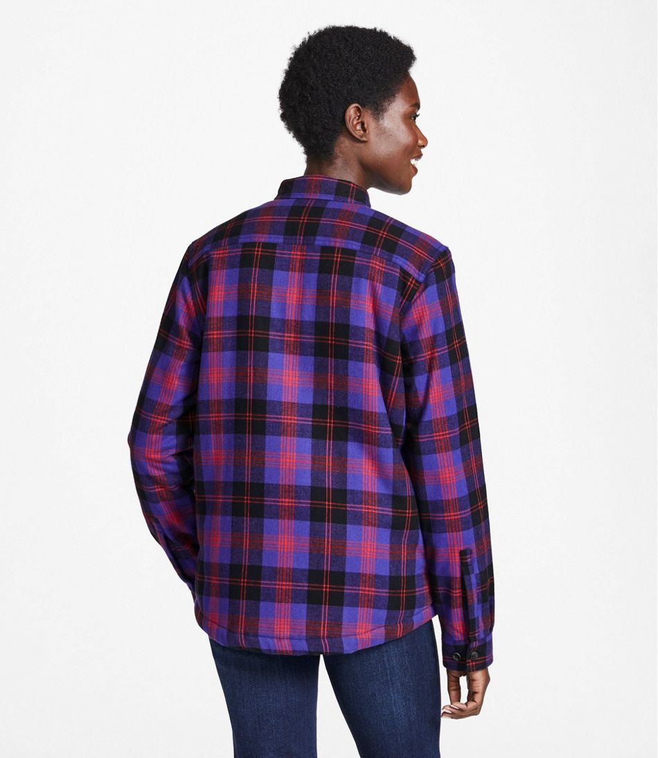 Women's Scotch Plaid Shirt, Sherpa-Lined