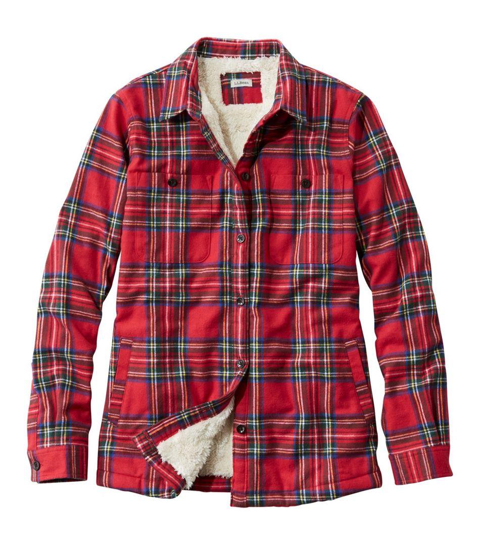 Scotch Plaid Shirt, Sherpa-Lined