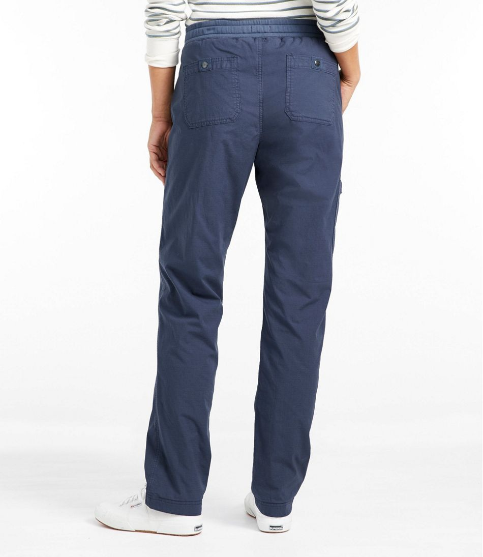 Stretch Ripstop Pull-On Pants, Fleece-Lined