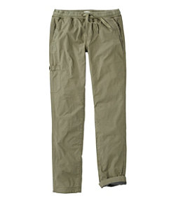 Women's Stretch Ripstop Pull-On Pants, Fleece-Lined
