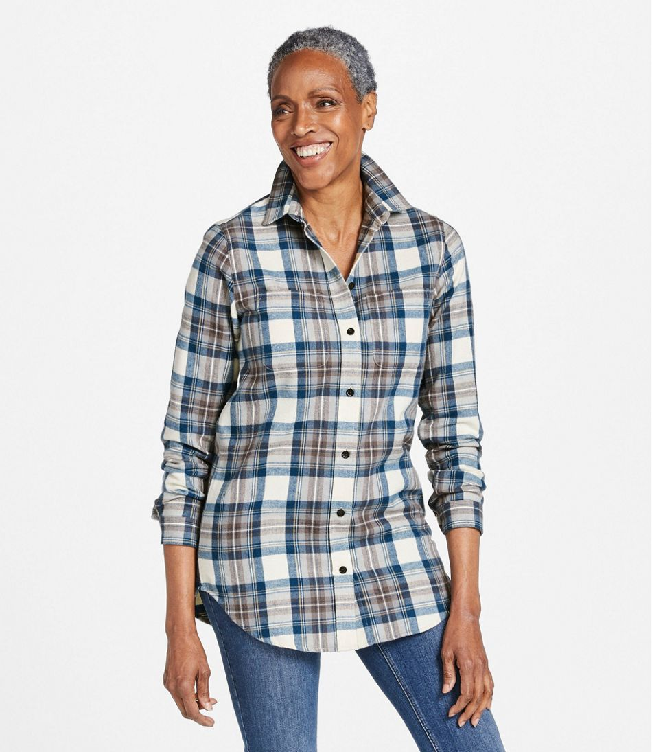 Scotch Plaid Flannel Shirt, Tunic