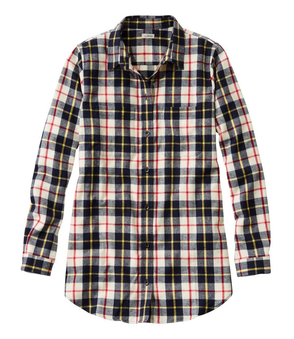 Women's Scotch Plaid Flannel Shirt, Tunic