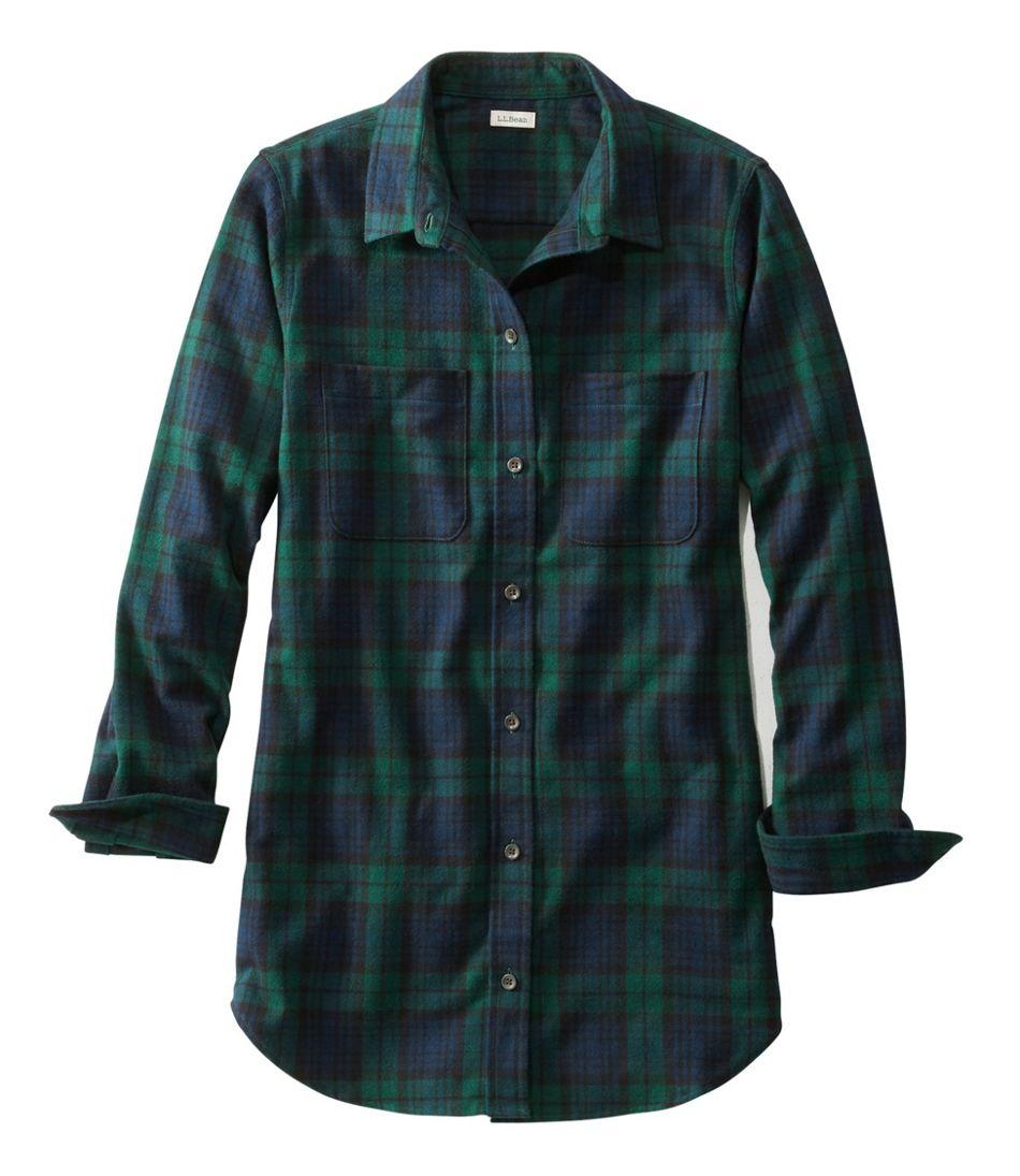 Scotch Plaid Flannel Shirt, Tunic